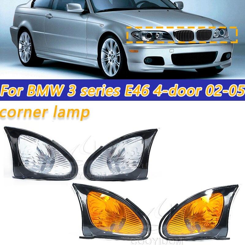 Car LED Turn Light Corner Marker Parking Light Lamp Right Left Trim For BMW 3 series E46 4-door 318i 320i 325i 330i 2002-2005