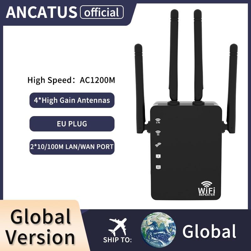 ANCATUS GLWDA1242B-EU Wi-Fi Range Extender Pro Wireless Router 1200M 2.4G/5G Repeater Network Wifi Pro,Esay Setup