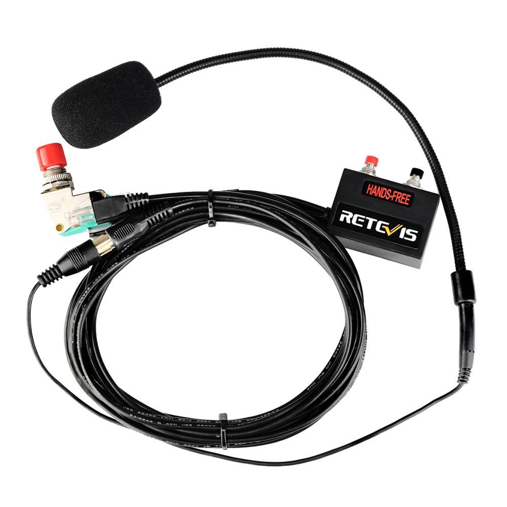 New Black Upgrade 6-core Finger PTT Microphone Car Radio Station Hands-free Headset for RT9000D MOTOROLA SMP-908 enlarge