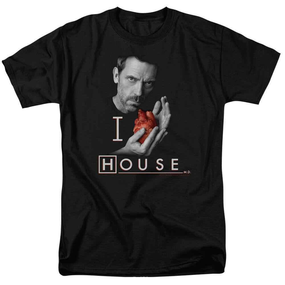 Casa Médico Md corazón casa con licencia para adultos Tops camiseta T Shirt camiseta tamaño grande de ajax