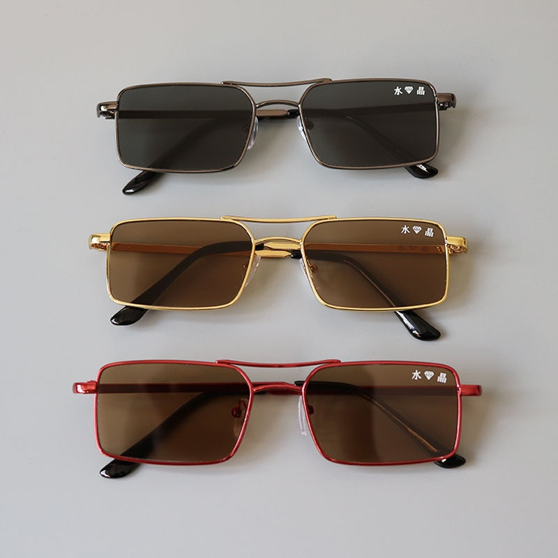 Crystal eye protecting sunglasses for men drivers cool and refreshing for driving stone mirror fashi