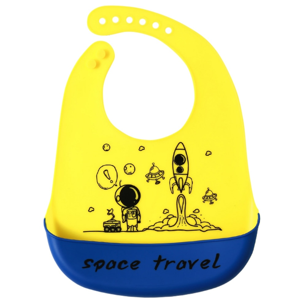Baywell Baby Bib Adjustable Animal Picture Waterproof Saliva Dripping Bibs Soft Edible Silicone Saliva Towel Drooling Baby Scarf