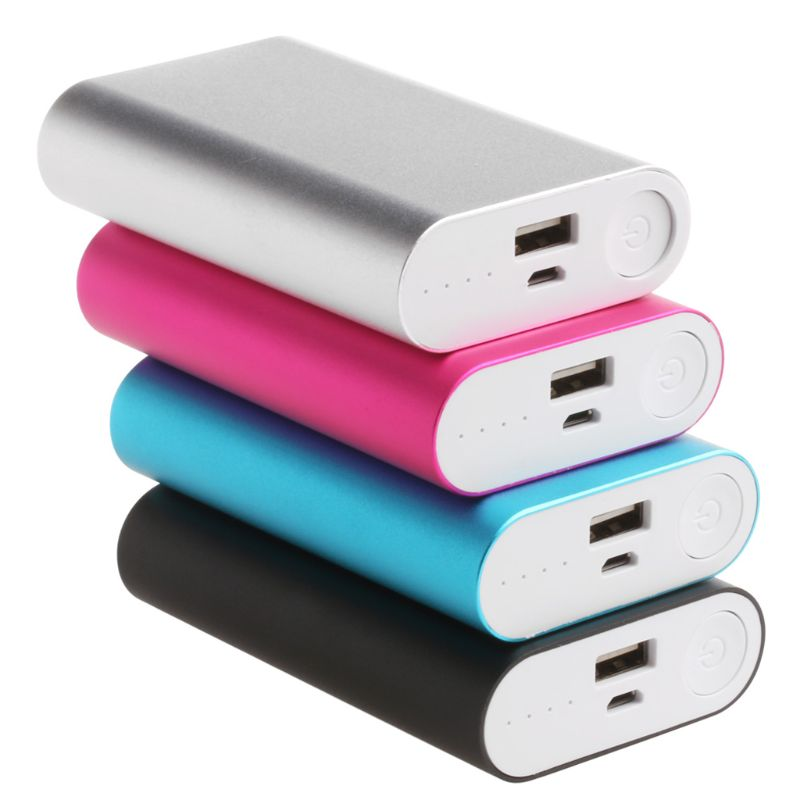Aluminum 5V 2A Power Bank Case Kit 3X 18650 Battery Charger Box for Cell Phone