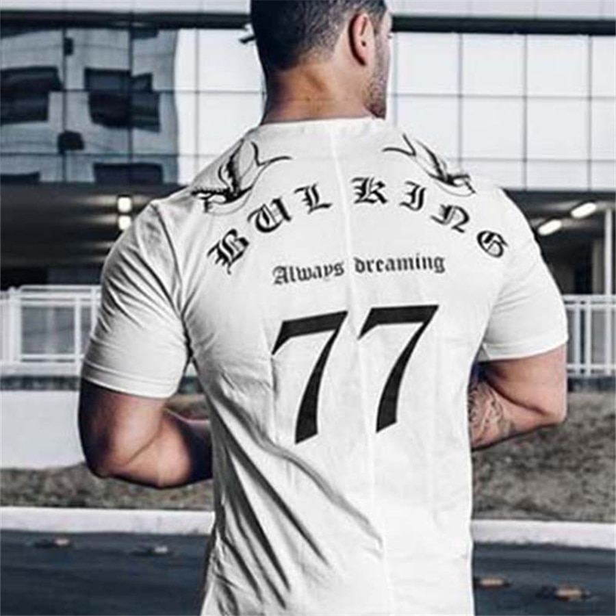 T-shirt Men 2021 Autumn New Casual Short Sleeve O-neck T Shirt Brand Clothing Fashion Fitness Cotton Tee Tops Streetwear