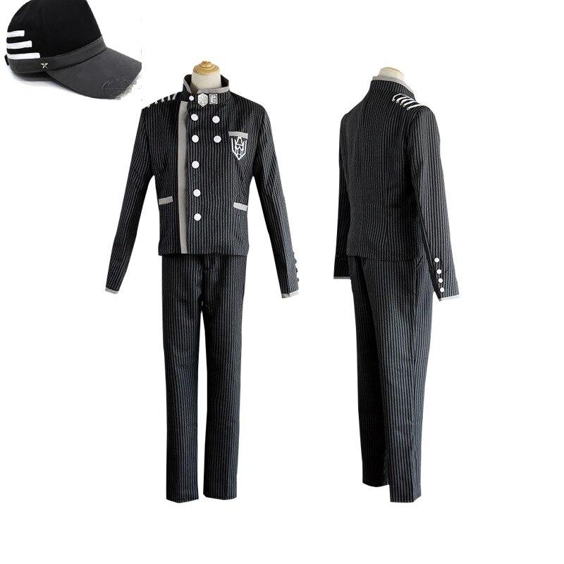 Danganronpa V3 Killing Harmony Saihara Shuichi Super Detective Cosplay Costume+hat