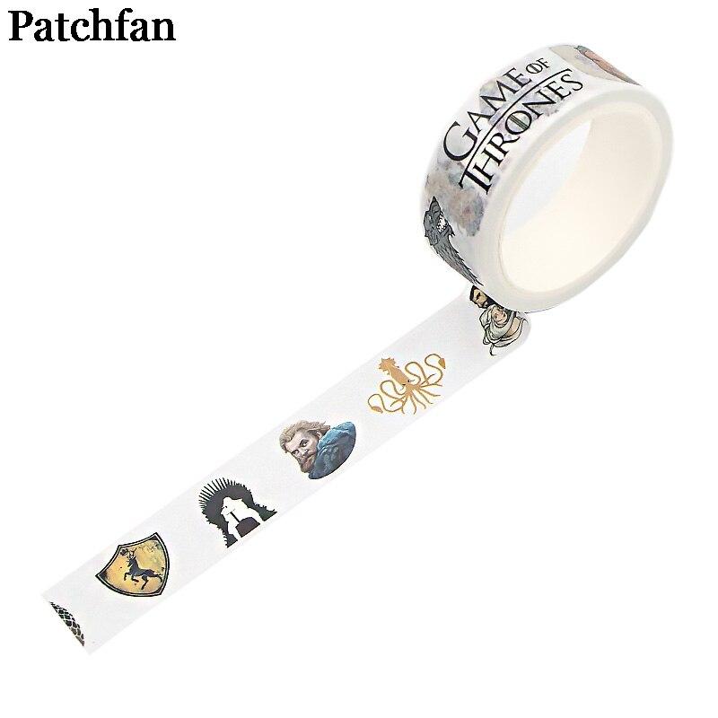 Pachfan Juego de tronos 90s divertido DIY Scrapbooking niños washi papel cinta adhesiva impreso patrón adhesivo paster A2345