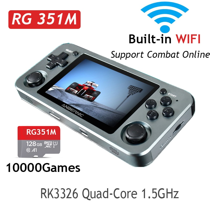 ANBERNIC RG351M RG351P Retro Video Game Console Aluminum Alloy Shell 2500 Game Portable Console RG351 Handheld Game Player