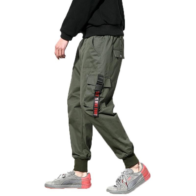 2020 pantalones Cargo verde militar para hombre, pantalones militares de algodón Boost, pantalones Harem de Hip Hop para hombre, pantalones hasta los tobillos al aire libre