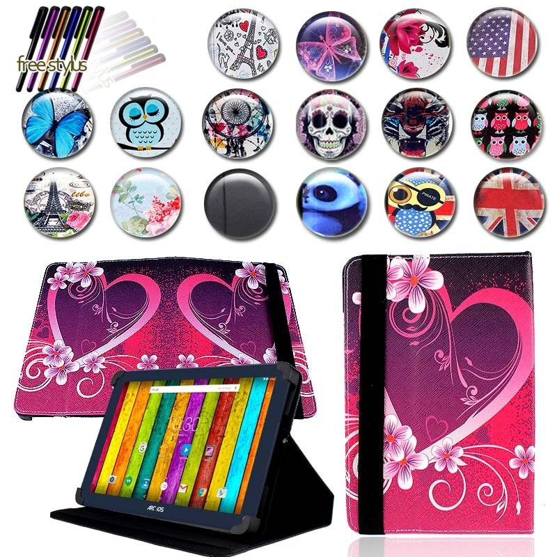 KK&LL Leather Tablet Stand Folio Cover Case + Free stylus For ARCHOS 101e 101f Neon 10 inch hot in stock archos 50e neon case 6 colors luxury ultra thin leather exclusive for archos 50e neon phone cover tracking