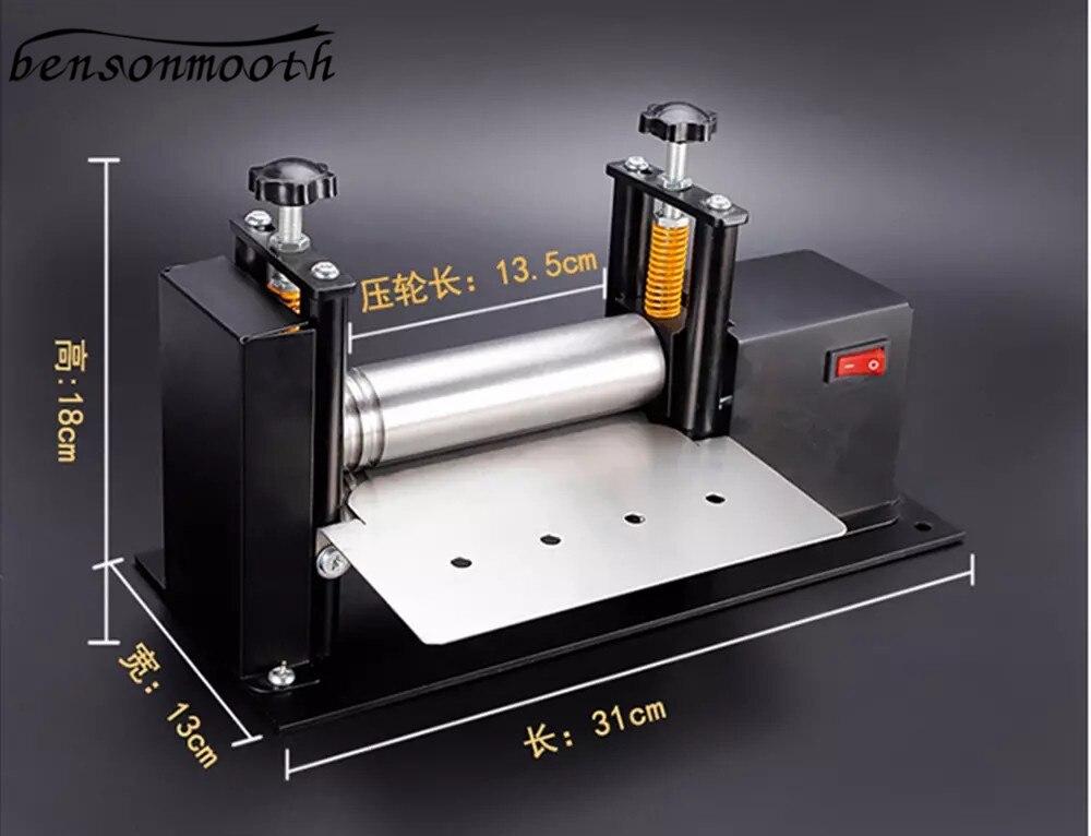 آلة سحب الجلود الصغيرة الكهربائية ، آلة موزع الغراء اليدوي ، ماكينة تصفيح بالضغط والجلود