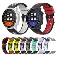 colorful sports silicone strap for coros pace 2 apex pro 46mm smartwatch band replacement bracelet watchband accessories