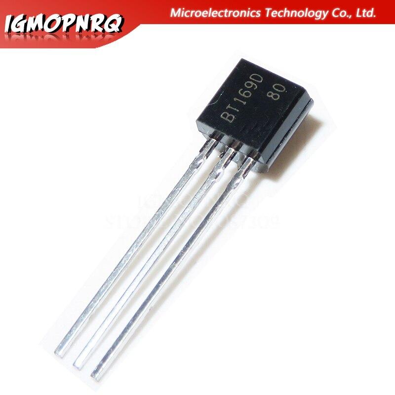 50 шт. BT169D BT169 TO-92 триакс Тиристор SCR 400V 9A 3-контактный SPT новый оригинальный