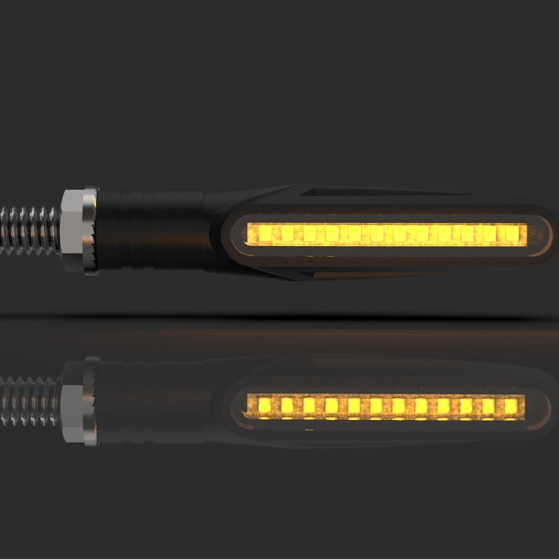 1 Uds intermitente de motocicleta Led Universal intermitente de agua luz trasera IP68 impermeable señales de giro secuencial para Motorc