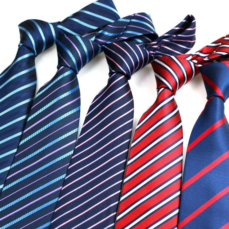 Роскошные мужские галстуки 8 см, мужские галстуки в полоску, мужские галстуки, классические галстуки для официального мероприятия, делового...