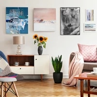 Toile daquarelle moderne  peinture a lhuile faite a la main  affiche dart mural  salon  chambre a coucher  decor de maison