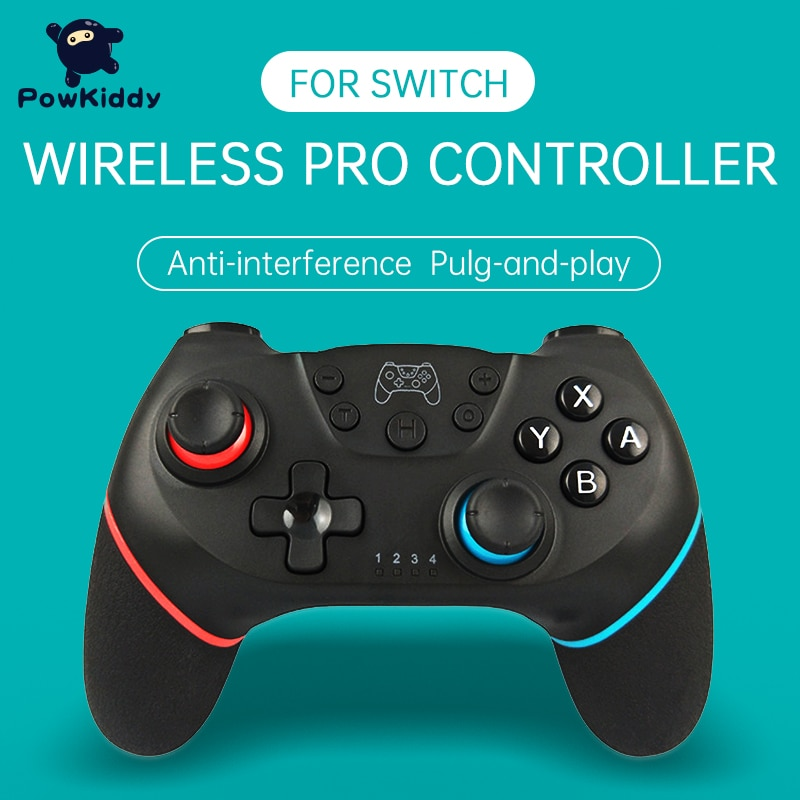 POWKIDDY For Switch NS Game Wireless Bluetooth Vibration Controller Remote control lever