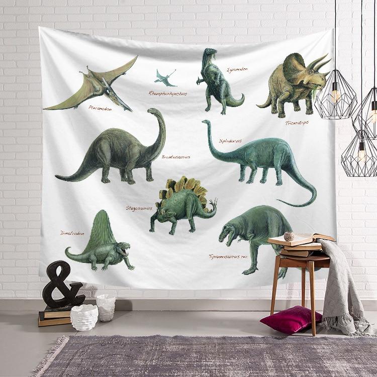 Tapiz de mandala para colgar en la pared con diseño de dinosaurio, colchoneta de viaje para la playa, colchoneta para dormir, manta para Yoga, tapiz de mandala, 150x200cm