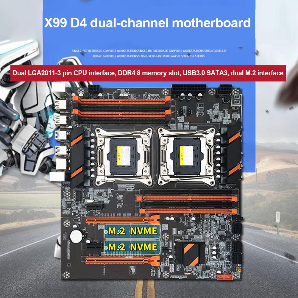 X99 المزدوج وحدة المعالجة المركزية اللوحة مستقرة سريعة الكمبيوتر لوحة دوائر كهربائية عالية السرعة اتصال للمنزل مكتب