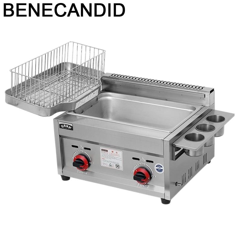 فريتاونيكا آلة القلي التجارية مطعم معدات خالية من الزيت بانيلا فريتاديرا فريدورا Friteuse الهواء مقلاة كهربائية عميقة