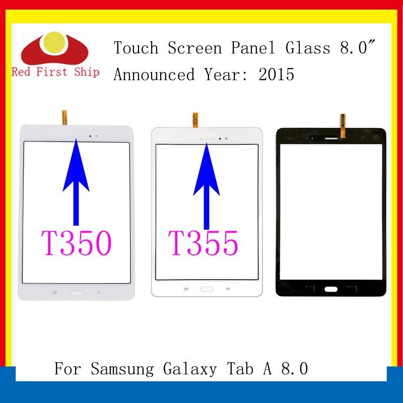 10 pçs/lote Para Samsung Galaxy Tab 8.0 T350 SM-T355 T355 Touch Screen Digitador Painel de Lente de Vidro LCD Frontal com Sensor substituição
