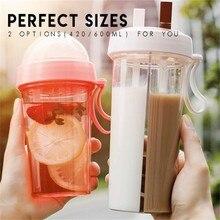 Чашка для напитков с двойным Сиппи креативная бутылка для воды для любителей спорта на открытом воздухе круглая кружка для кофе Двухтрубна...