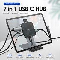 IPad Pro USB C концентратор с 4K HDMI, PD зарядки, светодиодный дисплей, SD/Micro SD кард-ридер, USB 3,0 и 3,5 мм разъем для наушников для Samsung Galaxy Tab S4