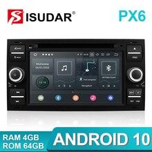 Isudar PX6 2 Din Android 10 GPS Autoradio 7 Zoll Für Ford/Mondeo/Focus/Transit/C-MAX/S-MAX/Fiesta Auto Multimedia-Player 4GB RAM