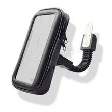 1pcs Universal Clip Motorcycle Holder Universal Motor Electromobile Bracket Holder Mount For 3.5-6 inch Mobile Phone