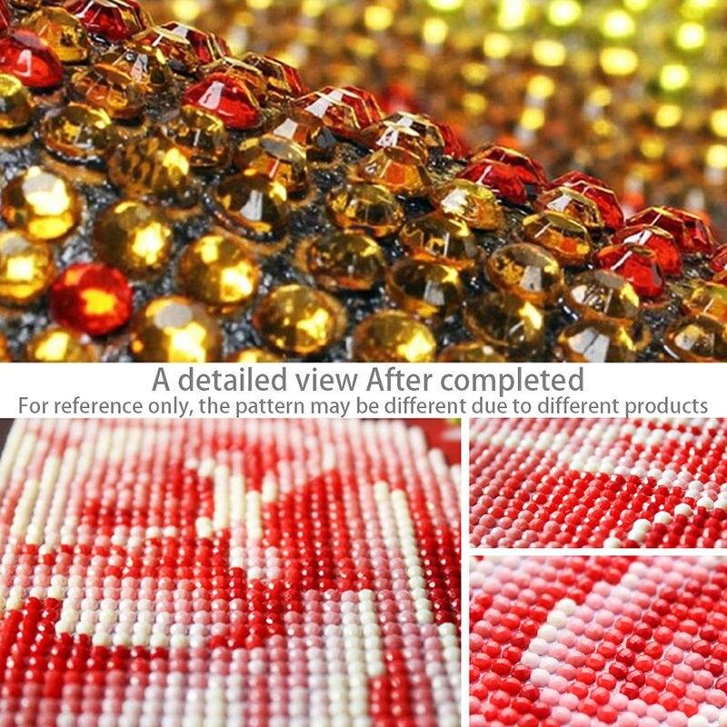 Kit de decoración de pared para el hogar DIY de moda pintura de diamante punto de cruz 3 tigres mosaico de cristal pegado cuadro bordado pintura artesanal TI9