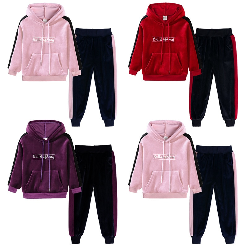 Ropa para niños 2020 Otoño e Invierno conjunto deportivo para niños conjuntos de niñas trajes deportivos para Niñas Ropa para niños suéter + Pantalones para niña