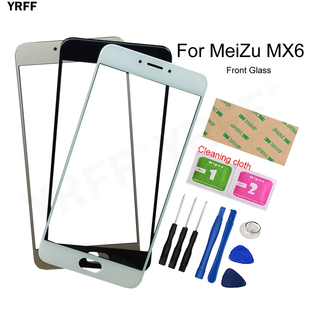 For MeiLan MX6 Mobile Outer Glass Panel touch For MeiZu MX6 Front Glass Panel (No Touch Screen) Asse