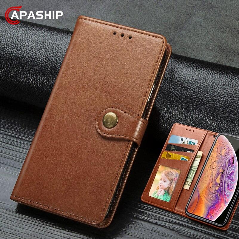 Funda de cuero de negocios para Motorola G8 Plus G7 Power Play funda Moto One zoom pro P40 Z4 E6 fundas cartera Retro PU bolsas de teléfono
