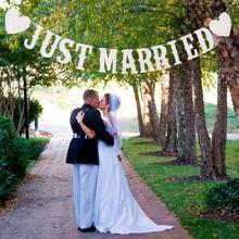 QIFU juste marié bannière drapeau Vintage mariage banderoles guirlande Photo stand accessoires romantique mariage décoration événement fête fournitures