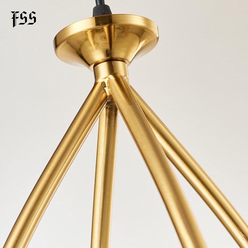 FSS Glass Gold Pendant Lights Creative Indoor Lights Bar Kitchen Island Indoor Lighting Fixtures AC 110-240V  - buy with discount