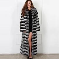 natural fur coats for women 130 x long real rex rabbit fur coat with turn down collar luxury women luxury rabbit fur overcoats