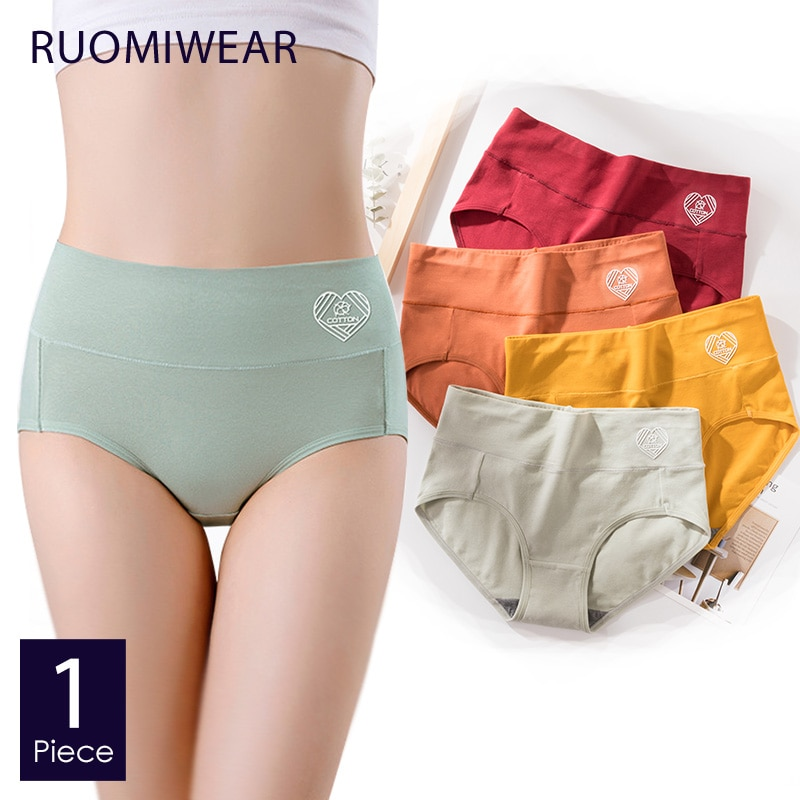 Romewear roupa íntima feminina, romewear calcinha de cintura alta de algodão puro para mulheres lingerie modeladora de quadril