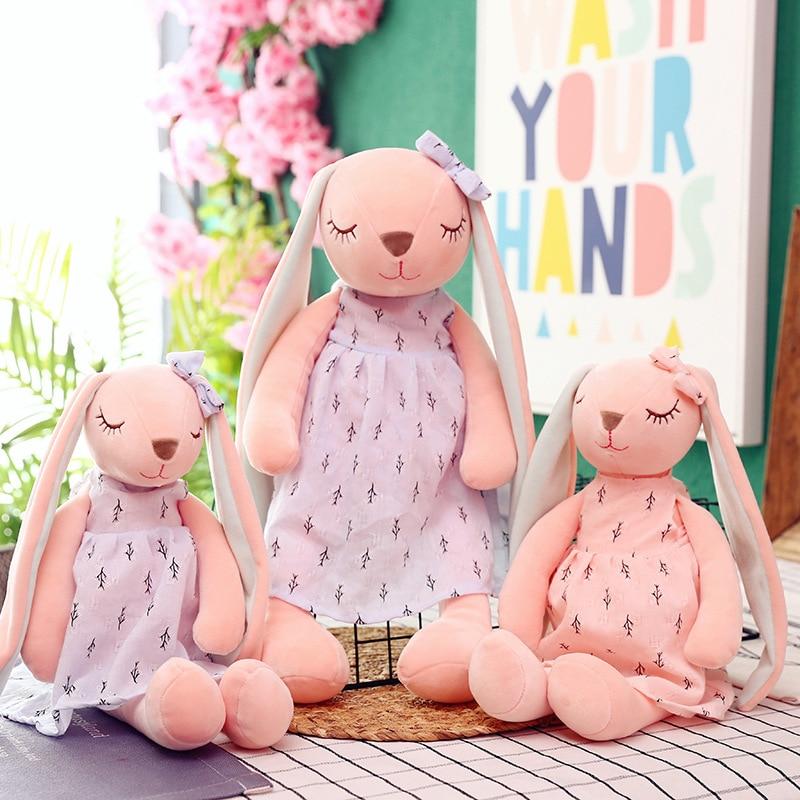 Милый любовный длинный ушной кролик 55 см, кукла, плюшевые игрушки, кролик, девочка, кукла, подарок, плюшевые игрушки, мягкие плюшевые игрушки-...