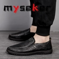 new 2021 casual shoes luxury brand designer leather men men loafers moccasins breathable flat non slip driving shoes size 47