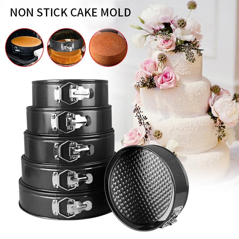 1/3/5pcs primavera forma Pan hornear molde no-Stick Fondo removible para hornear Pan para hornear de acero al carbono pasteles moldes de cocina torta herramientas