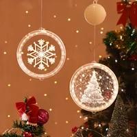 christmas pattern lamp xmas festive santa claus bells hanging light led for home decor 2022 new year kids gift navidad