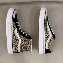 Original Van old pool canvas women's leopard sports shoes outdoor skateboarding shoes size 35-40