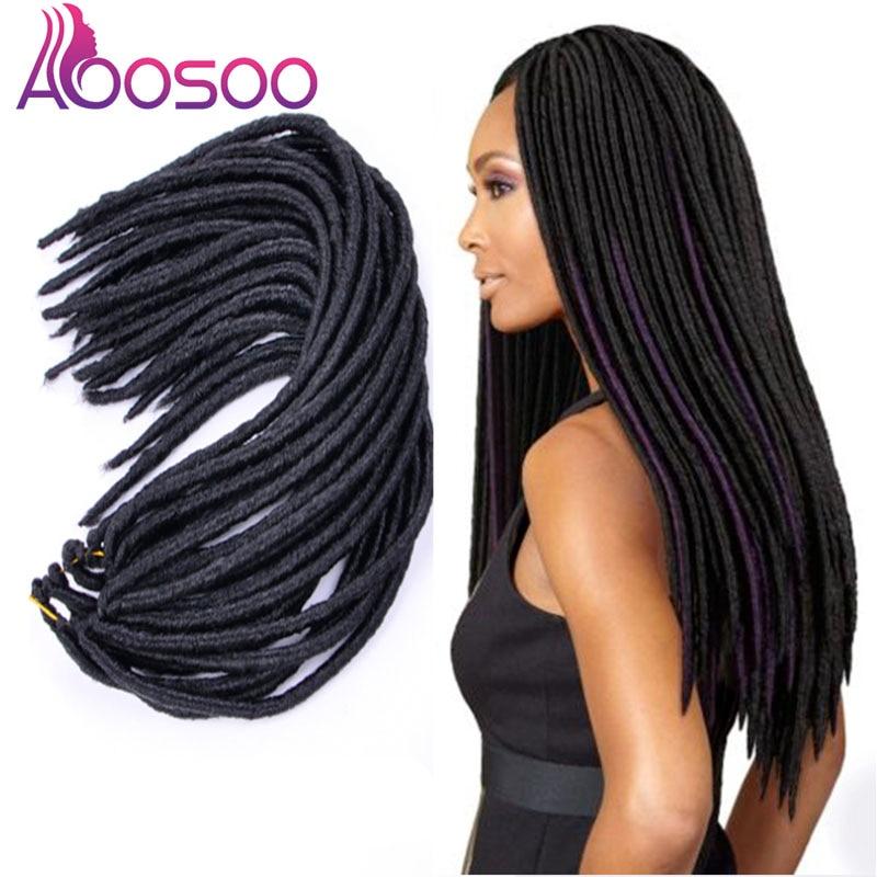 AOOSOO bloqueos hermana cerraduras Afro trenzas a crochet ombre Color 20 pulgadas bicho marrón pelo sintético para las mujeres de Locs 20 hebras 1PC