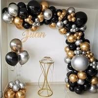 110pcs chrome silver gold balloons arch kit black balloon garland wedding birthday christmas party decor kids baby shower globos