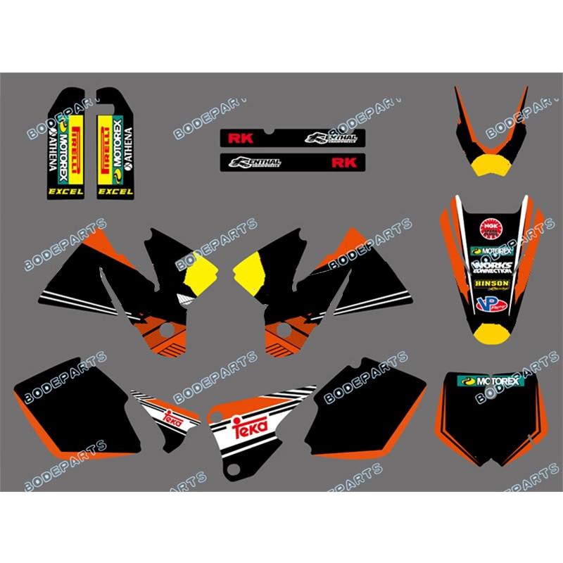 Kit de calcomanías para bicicleta de para Motor de Dirt Bike con logotipo Rb, gráficos adhesivos para motocicletas KTM SX MXC 125/250/380 /400/520 1998 1999 2000 2001