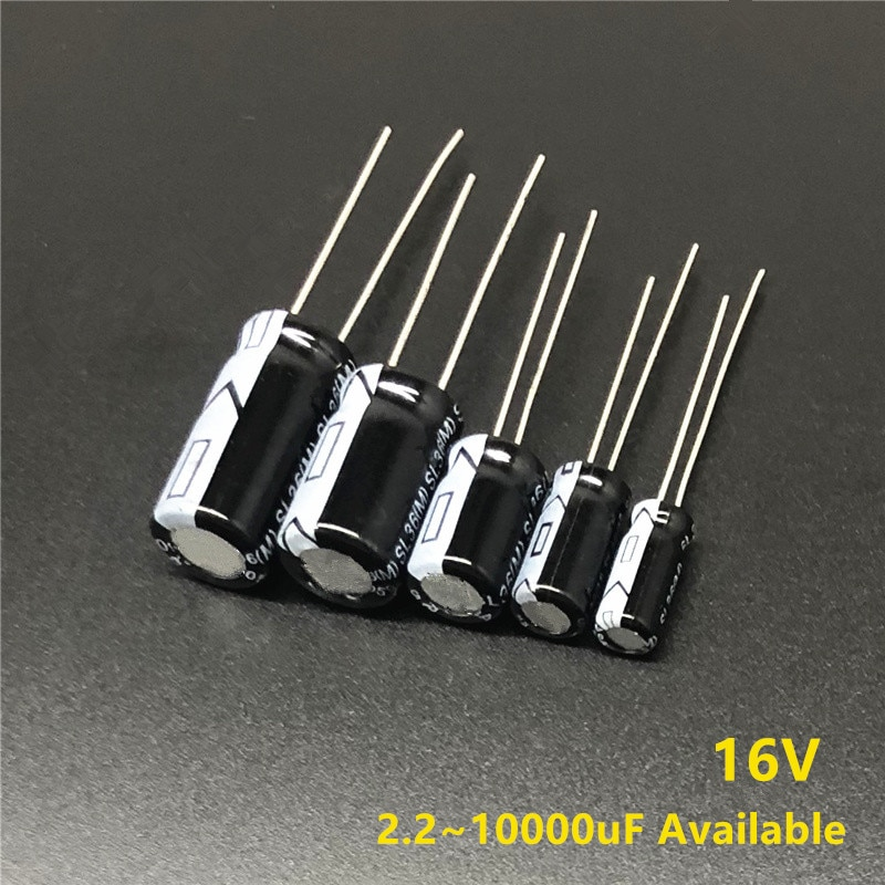 16V 2.2/10/22/33/47/68/100/180/220/270/330/470/680/820/1000/1500/1800/2200/2700/3300/4700/6800/10000uF Electrolytic Capacitor