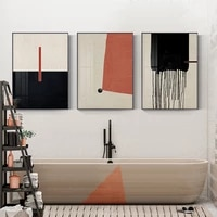 colorful geometric abstract painting modern canvas poster print minimalist wall art pictures for living room aisle studio decor