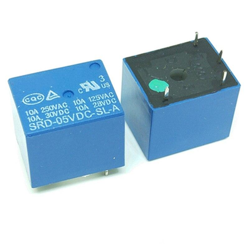 5 uds 4pin de SRD-05VDC-SL-A SRD-12VDC-SL-A SRD-24VDC-SL-A SRD-48VDC-SL-A 05V 12V 24V 48V 48V 4pin de relé