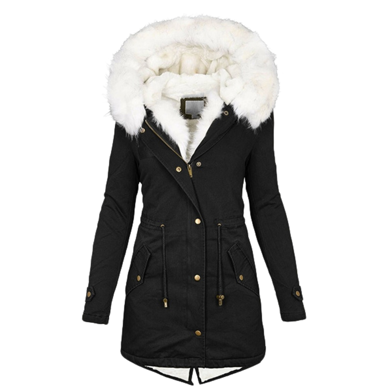 Winter Jacket Women Thick Warm Hooded Parka Mujer Cotton Padded Coat Long Paragraph Plus Size Slim Jacket Female 2020 #T2Q winter jacket women thick warm hooded fur parka cotton padded coat long outwear plus size 3xl slim jacket female