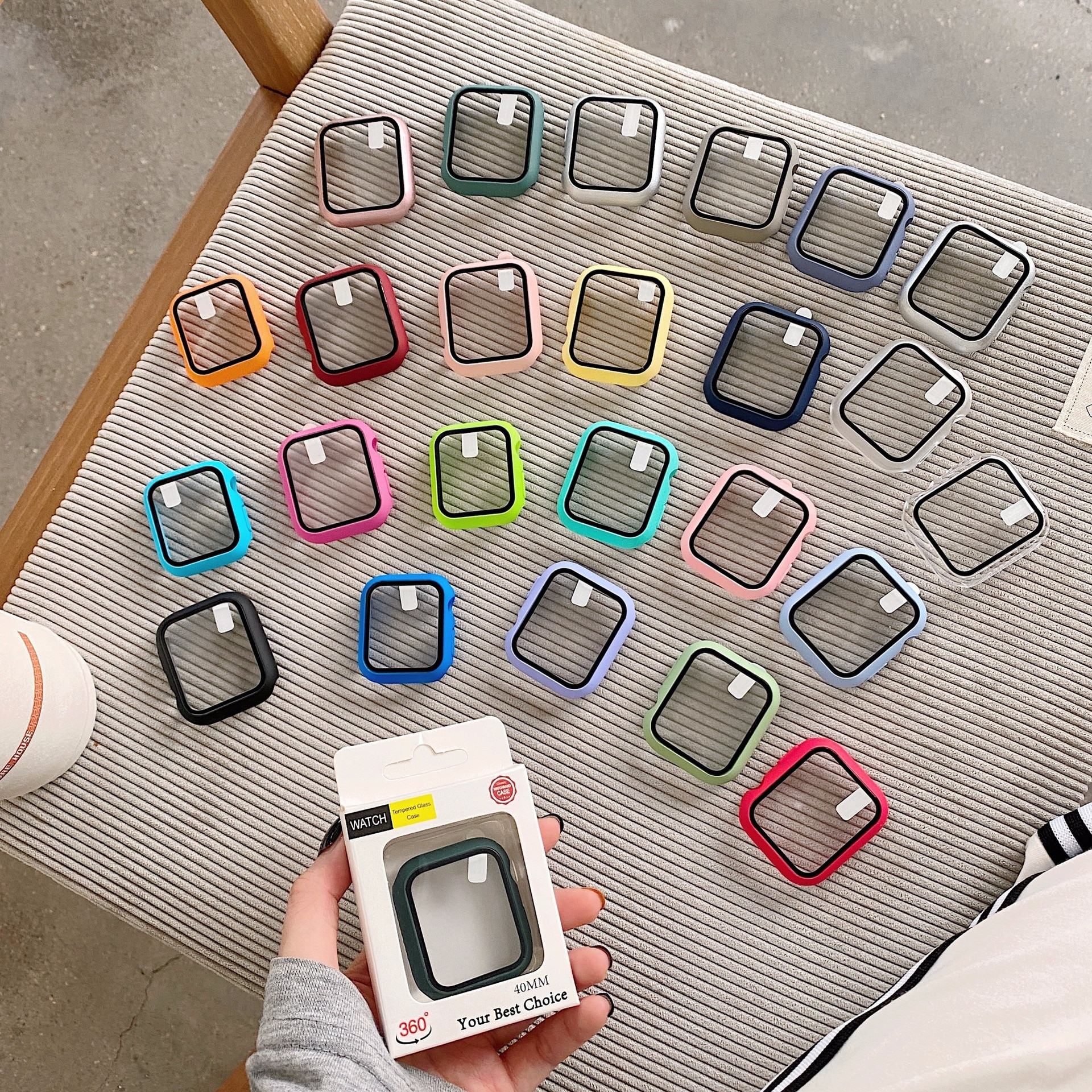screen protector case for apple watch 5 case with glass cover for apple watch series 5 4 44mm 42mm iwatch 3 2 1 42mm protector Glass+cover For Apple Watch Case 44mm 40mm 42mm 38mm Accessories bumper Screen Protector apple watch iWatch series 6 5 4 3 2 se