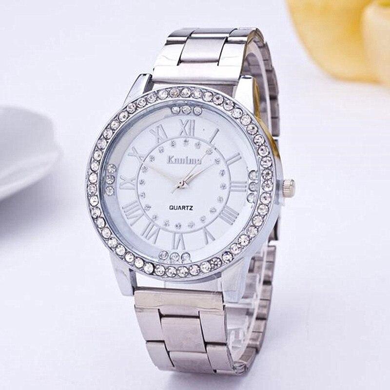 Luxury Brand Neutral Quartz Watches Men & Women Diamond Gold Watch Stainless Steel Analog Fashion Wa